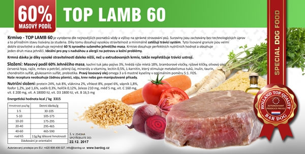 Bardog Top Lamb 60